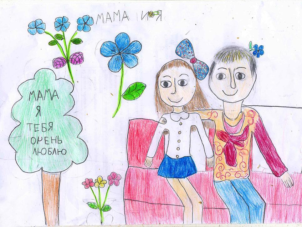 Нарисованные рисунки на день матери